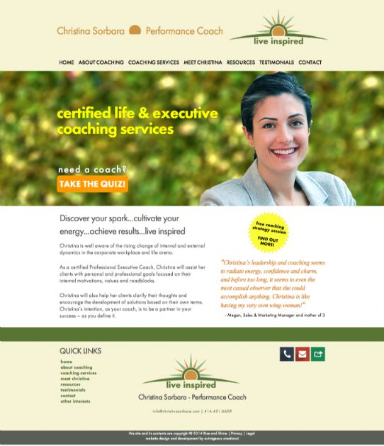 Christina Sorbara Performance Coaching